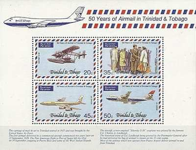 [The 50th Anniversary of Airmail Service, Typ ]