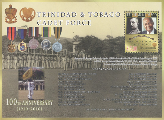 [The 100th Anniversary of the Trinidad & Tobago Cadet Force, type ]