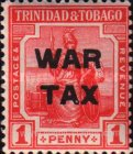 [War Tax - No. 1 & 2 Overprinted. 2½ mm Between
