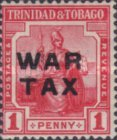 [War Tax - No. 1 & 2 Overprinted. 1½ mm Between
