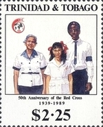 [Anniversaries and Events - The 75th Anniversary of Blind Fund, the 75th Anniversary of Port-of-Spain City Hall, the 75th Anniversary of Scouts, and the 50th Anniversary of National Red Cross, Typ QL]