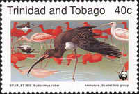 [Worlwide Nature Protection - Scarlet Ibis, Typ QU]