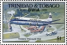 [The 50th Anniversary of British West Indies Airways or BWIA, Typ RE]