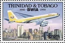 [The 50th Anniversary of British West Indies Airways or BWIA, Typ RF]