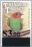 [Bird Stamp of 1990 Surcharged, Typ RO3]
