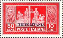 "[The 1400th Anniversary of Monte Cassino Monastery - Not Issued Stams Overprinted ""TRIPOLITANIA"", type AF2]"
