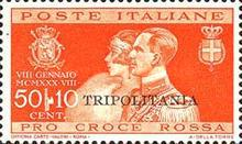 "[Royal Wedding - Not Issued Stamps Overprinted ""TRIPOLITANIA"", Typ AN1]"