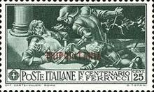 "[The 400th Anniversary of the Death of Francesco Ferruci - Not Issued Stamps Overprinted ""TRIPOLITANIA"" in Red or Blue, Typ AO1]"