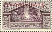 "[The 2000th Anniversary of the Birth of Roman Poet Vergil - Not Issued Stamps Overprinted ""TRIPOLITANIA"", Typ AS7]"