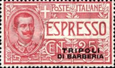 """[Special Delivery - Italian Stamps Overprinted """"TRIPOLI DI BARBERIA"""", Typ B]"""