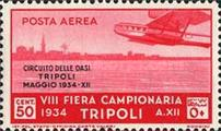 "[Airmail - Not Issued Stamps - Inscription ""CIRCUITO DELLE OASI - TRIPOLI - MAGGIO"", type CZ]"