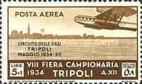 "[Airmail - Not Issued Stamps - Inscription ""CIRCUITO DELLE OASI - TRIPOLI - MAGGIO"", type CZ2]"