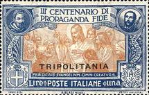 "[Italian Postage Stamps Overprinted ""TRIPOLITANIA"", type D3]"