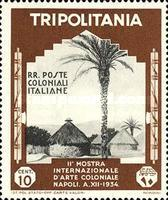 [The 2nd International Colonial Exhibition - Naples, type DB1]