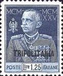 "[The 25th Anniversary of the Reign of King Emmanuel III - Italian Postage Stamps Overprinted ""TRIPOLITANIA"", type H2]"