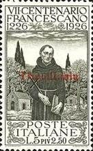 "[The 700th Anniversary of the Death of St. Francis of Assisi - Italian Postage Stamps Overprinted ""Tripolitania"", type I4]"