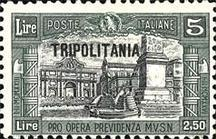 "[Italian Postage Stamps Overprinted ""TRIPOLITANIA"", type P3]"