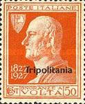 "[The 100th Anniversary of the Death of Alessandro Volta - Not Issued Stamps Overprinted ""Tripolitania"", type Q1]"