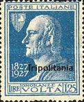"[The 100th Anniversary of the Death of Alessandro Volta - Not Issued Stamps Overprinted ""Tripolitania"", type Q2]"