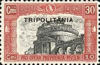 "[Not Issued Stamps Overprinted ""TRIPOLITANIA"", type Y]"