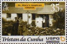 [Christmas - The 300th Anniversary of Arrival of First U.S.P.G. Missionary on Tristan da Cunha, type AAX]