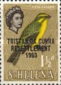 [Tristan da Cunha Resettlement - Issues of St. Helena Overprinted
