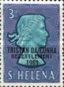 "[Tristan da Cunha Resettlement - Issues of St. Helena Overprinted ""TRISTAN DA CUNHA RESETTLEMENT 1963"", type AS]"