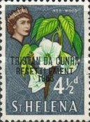 "[Tristan da Cunha Resettlement - Issues of St. Helena Overprinted ""TRISTAN DA CUNHA RESETTLEMENT 1963"", type AT]"