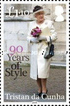 [The 90th Anniversary of the Birth of Queen Elizabeth II, type ATC]