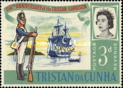 [The 150th Anniversary of Stationing of the First Garrison on Tristan da Cunha, Typ BX]