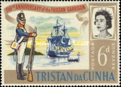 [The 150th Anniversary of Stationing of the First Garrison on Tristan da Cunha, Typ BX1]