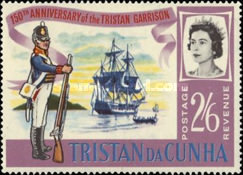 [The 150th Anniversary of Stationing of the First Garrison on Tristan da Cunha, Typ BX3]