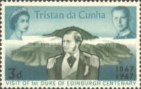 [The 100th Anniversary of the Visit of the First Duke of Edinburgh to Tristan da Cunha, type CF]
