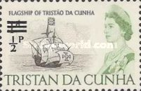 [Queen Elizabeth and Ships Stamps of 1965 Surcharged, Typ CY]