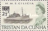 [Queen Elizabeth and Ships Stamps of 1965 Surcharged, Typ DB]