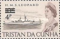 [Queen Elizabeth and Ships Stamps of 1965 Surcharged, Typ DD]