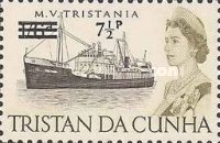 [Queen Elizabeth and Ships Stamps of 1965 Surcharged, Typ DF]