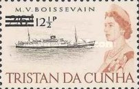 [Queen Elizabeth and Ships Stamps of 1965 Surcharged, Typ DG]