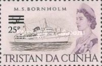 [Queen Elizabeth and Ships Stamps of 1965 Surcharged, Typ DI]