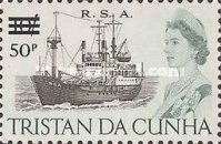 [Queen Elizabeth and Ships Stamps of 1965 Surcharged, Typ DJ]