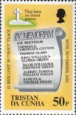 [The 100th Anniversary of Loss of Lifeboat from Tristan da Cunha, type MS]