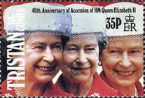 [The 40th Anniversary of Queen Elizabeth II's Accession, type RQ]