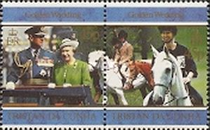 [The 50th Anniversary of the Wedding of Queen Elizabeth II and Prince Philip, type VO]