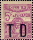 [Postage Due Stamps No. 51 & 55-56 Overprinted