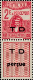 [Not Issued Postage Due Stamps with Overprinted Vignette, type G]