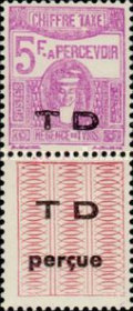 [Not Issued Postage Due Stamps with Overprinted Vignette, type G1]