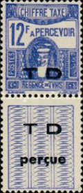 [Not Issued Postage Due Stamps with Overprinted Vignette, type G2]