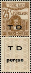[Not Issued Postage Due Stamps with Overprinted Vignette, type G3]