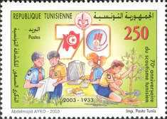 [The 70th Anniversary of Tunisian Scouting, type APK]