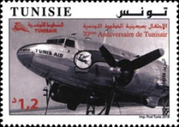[The 70th Anniversary of Tunisian Airlines TUNISAIR, type BEQ]